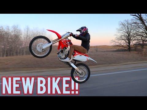 Jake Gets a Dirt Bike!!! || How to Ride Long Wheelies!