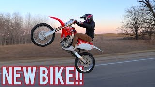 Jake Gets a Dirt Bike  How to Ride Long Wheelies