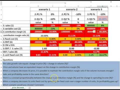 Price Volume Margin Profit Generic Correction