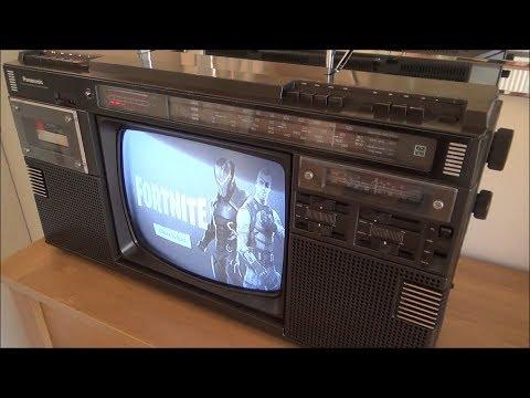 Fortnite on a 1984 Panasonic Boombox
