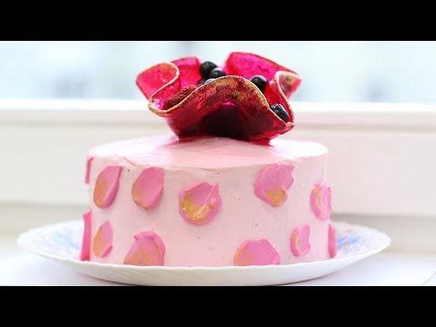 Декор для торта - карамельный всплеск, цветок, ваза| Caramel Decoration