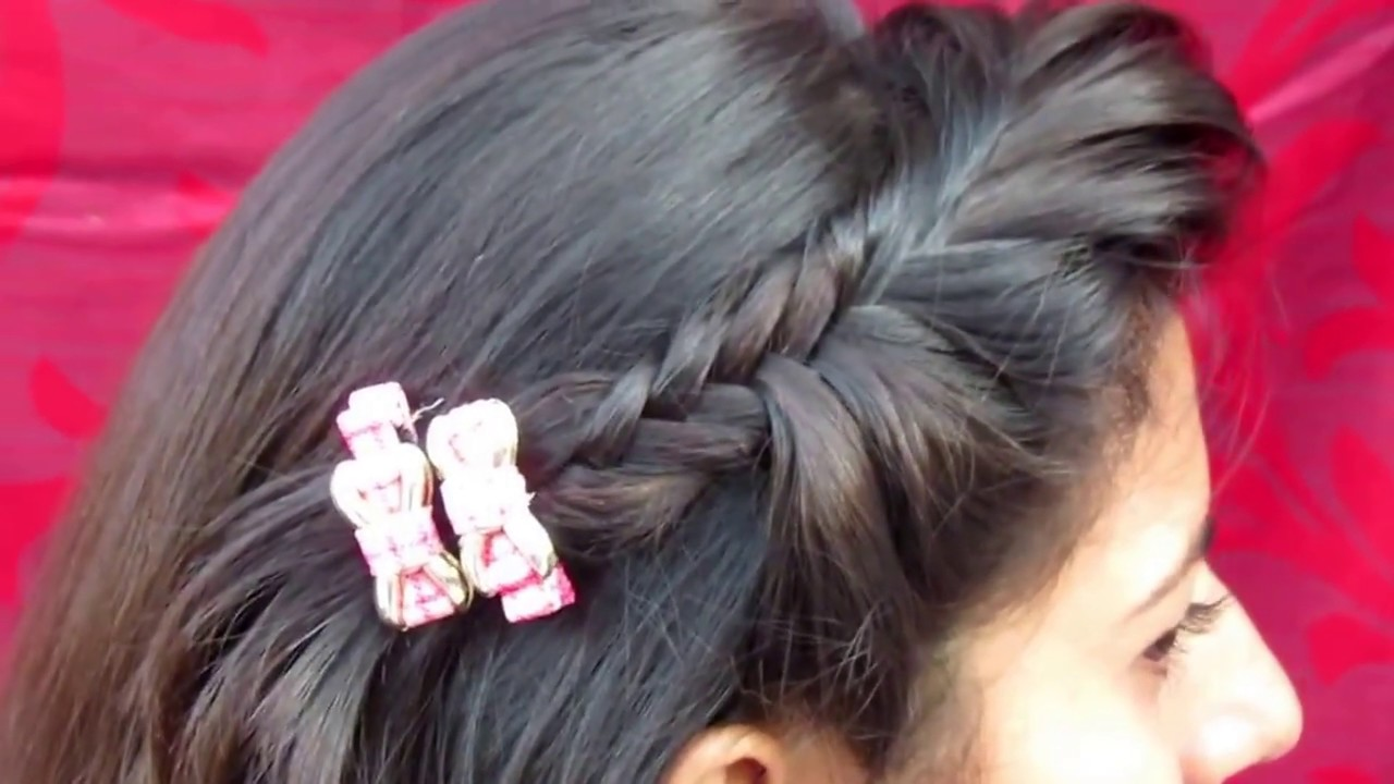 Front Fishtail Braid Hairstyle Fishtail Hairstyle For Party Youtube