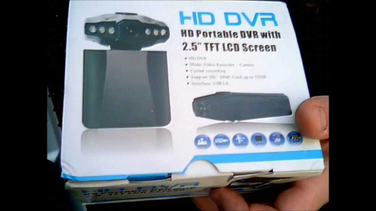 Hd Portable Dvr 2 5 Quot Dashboard Cam Review Youtube