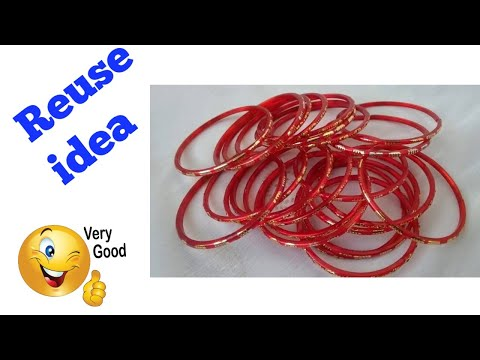 Old Bangle Reuse Craft Ideas || DIY Best Out of Waste