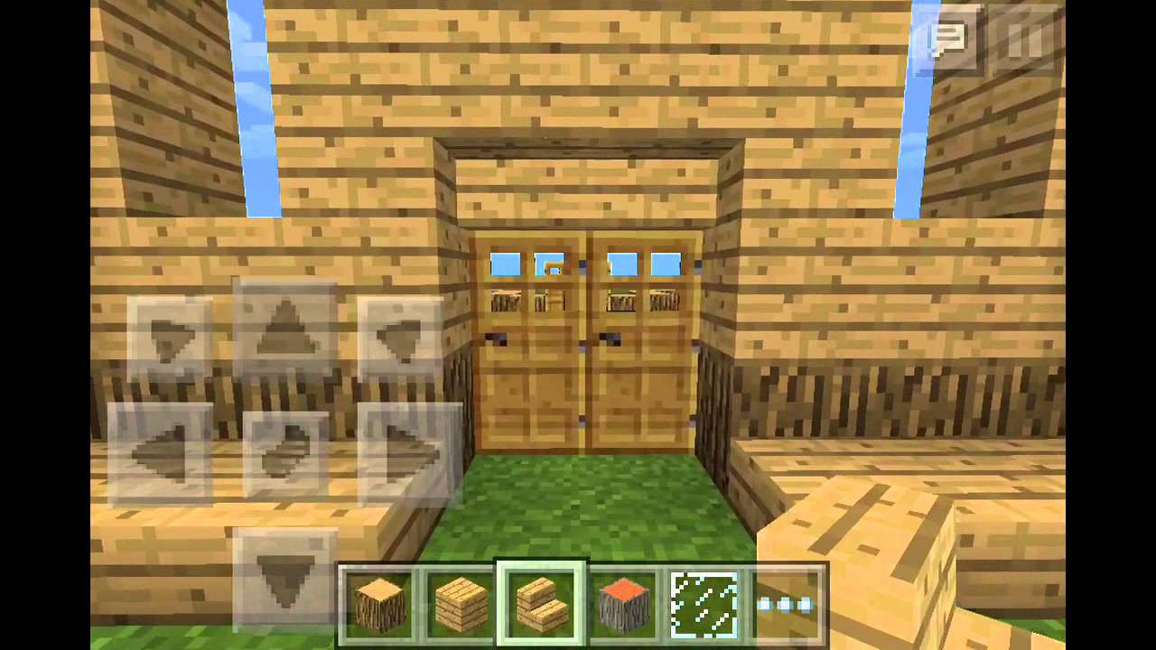 Tuto maison en bois moderne minecraft pocket edition youtube - Maison en bois minecraft ...
