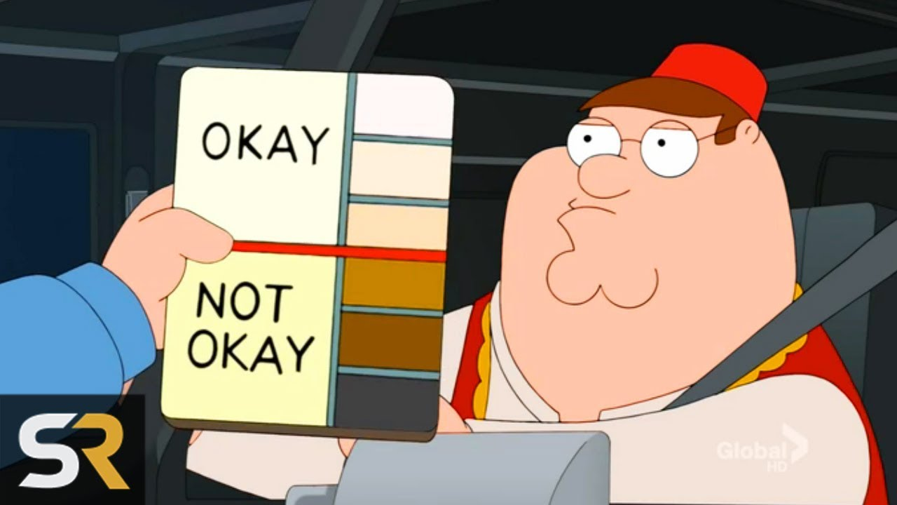 10 Times Family Guy Played The Race Card - YouTube