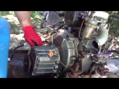 Yanmar Diesel Engine 1GM10 8hp - YouTube