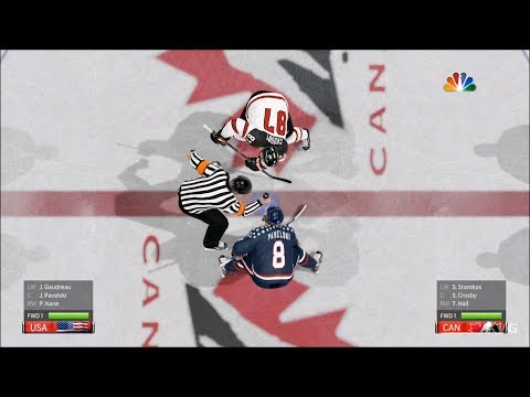 NHL 19 - Canada Vs USA - Gameplay (HD) [1080p60FPS]