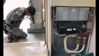業務用床置きエアコン設置