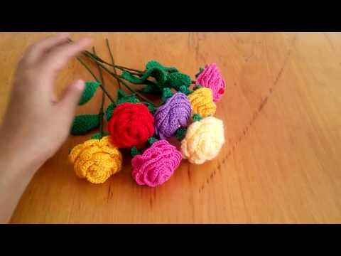 Вязание крючком цветы для вазы схемы