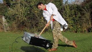 Sledgehammer vs PC in Slow Motion - The Slow Mo Guys