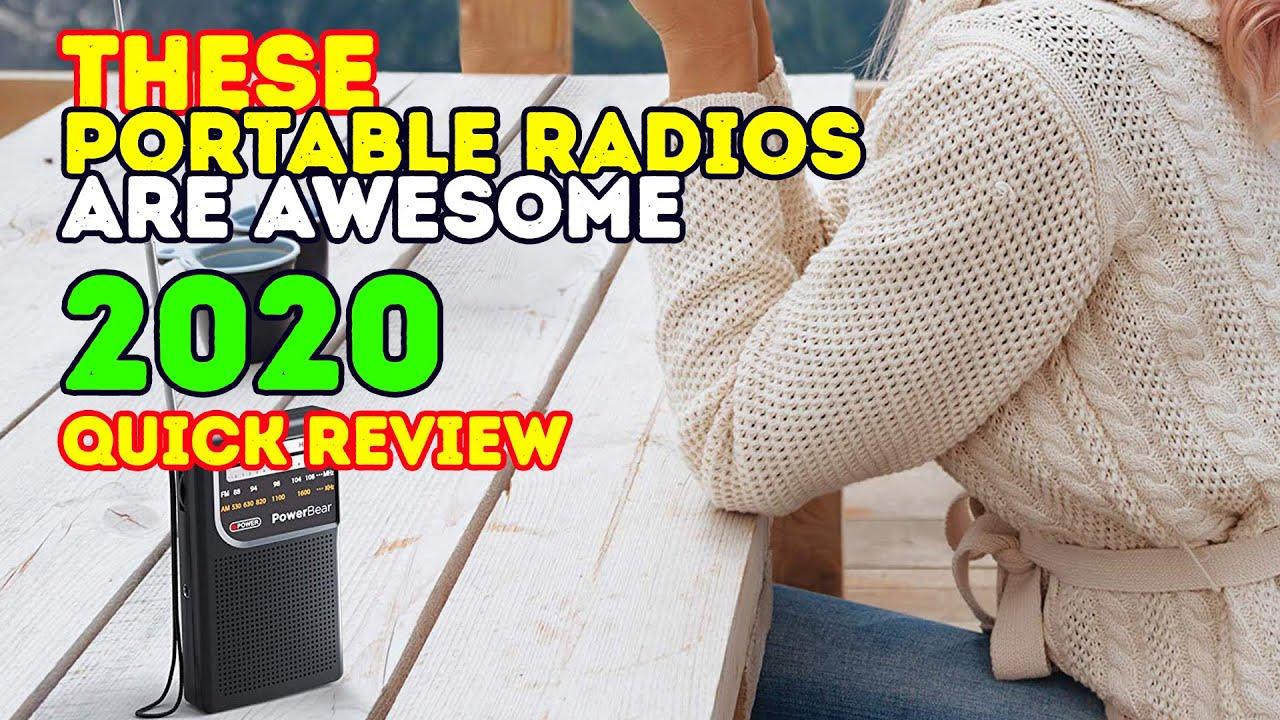 Best Portable Radios 2018 Best Fm Am Radios Youtube