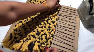 बिना सिले बनाए किसी भी कपडे से door mat /floor mat