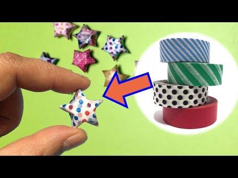 Masking Tape DIY / Washi Tape Hacks | How to Make Lucky Star Using Masking Tape