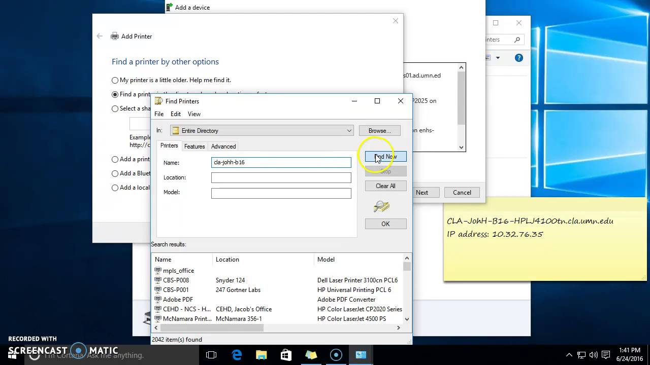Color printing in windows 10 - Adding A Network Printer To Windows 10