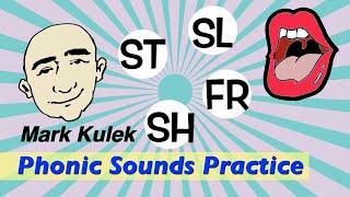 Phonic English Sounds - st, sl, sh, fr   Pronunciation for Communication - ESL Video