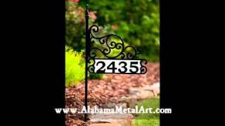 Personalized address signs - House Number Signs - Alabama Metal Art.wmv