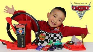 Disney Cars Toys Lightspeed Loopin Launcher Playset Unboxing Lightning McQueen Ckn Toys