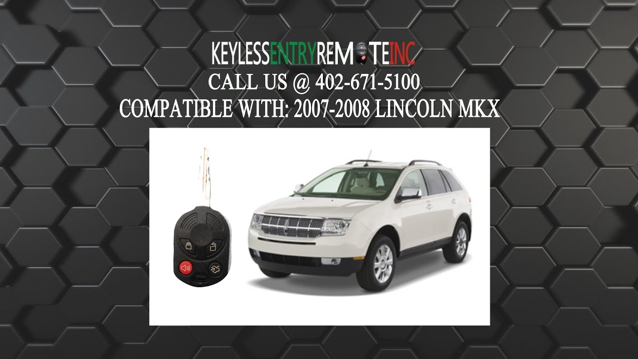 How To Replace Lincoln Mkx Key Fob Battery 2007 2008 Youtube