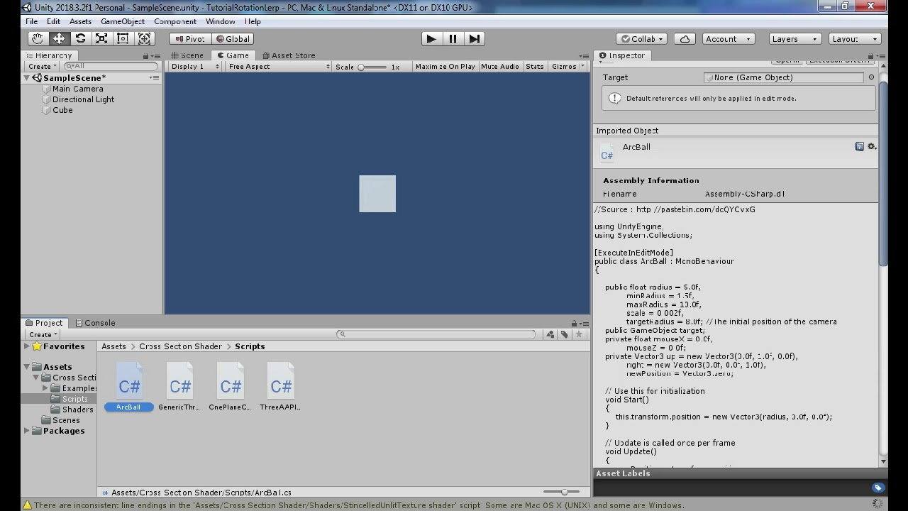 Unity Tutorial - Zoom and Lerp Rotation Controller