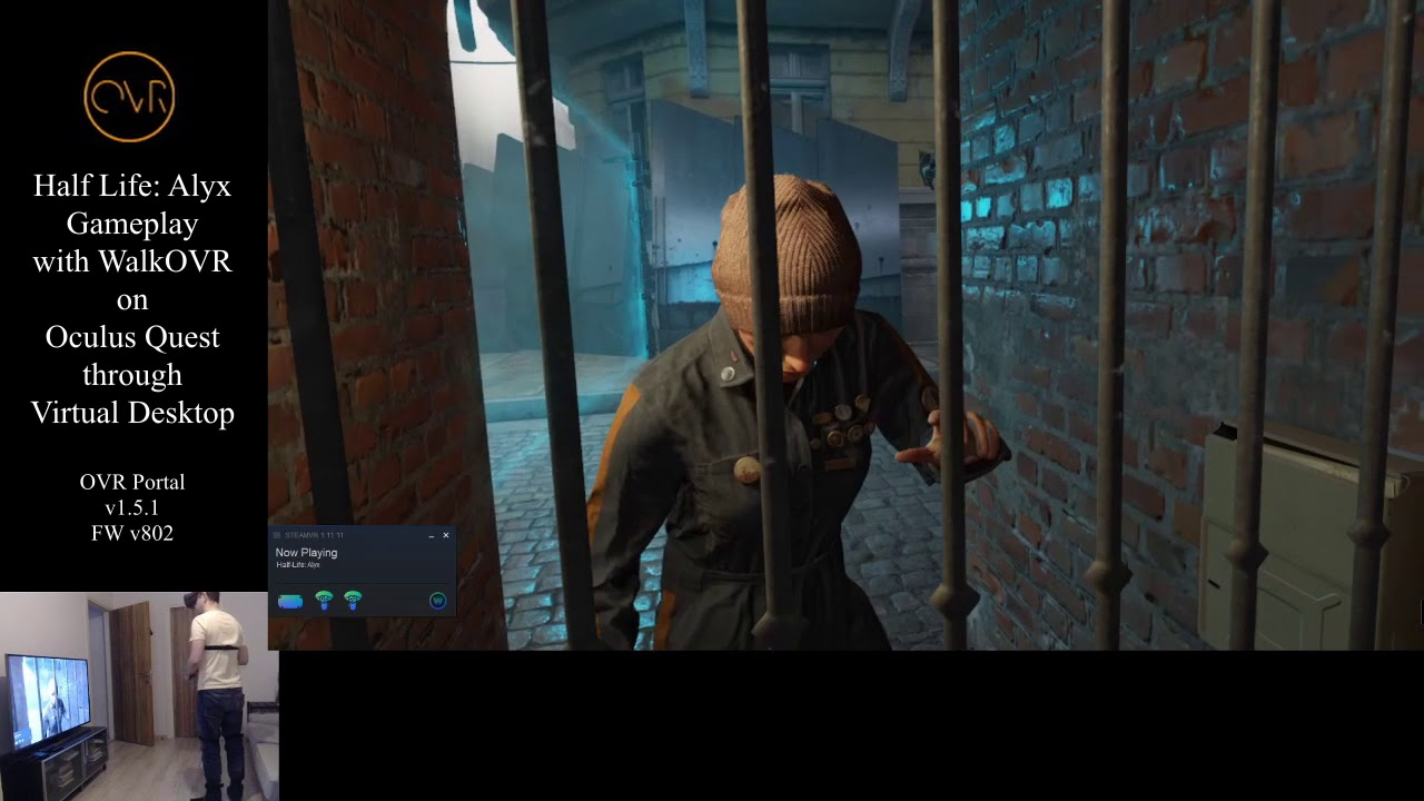 WalkOVR Half Life Alyx Gameplay on Quest via Virtual
