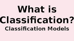 What is Classification? What is a Classifier?