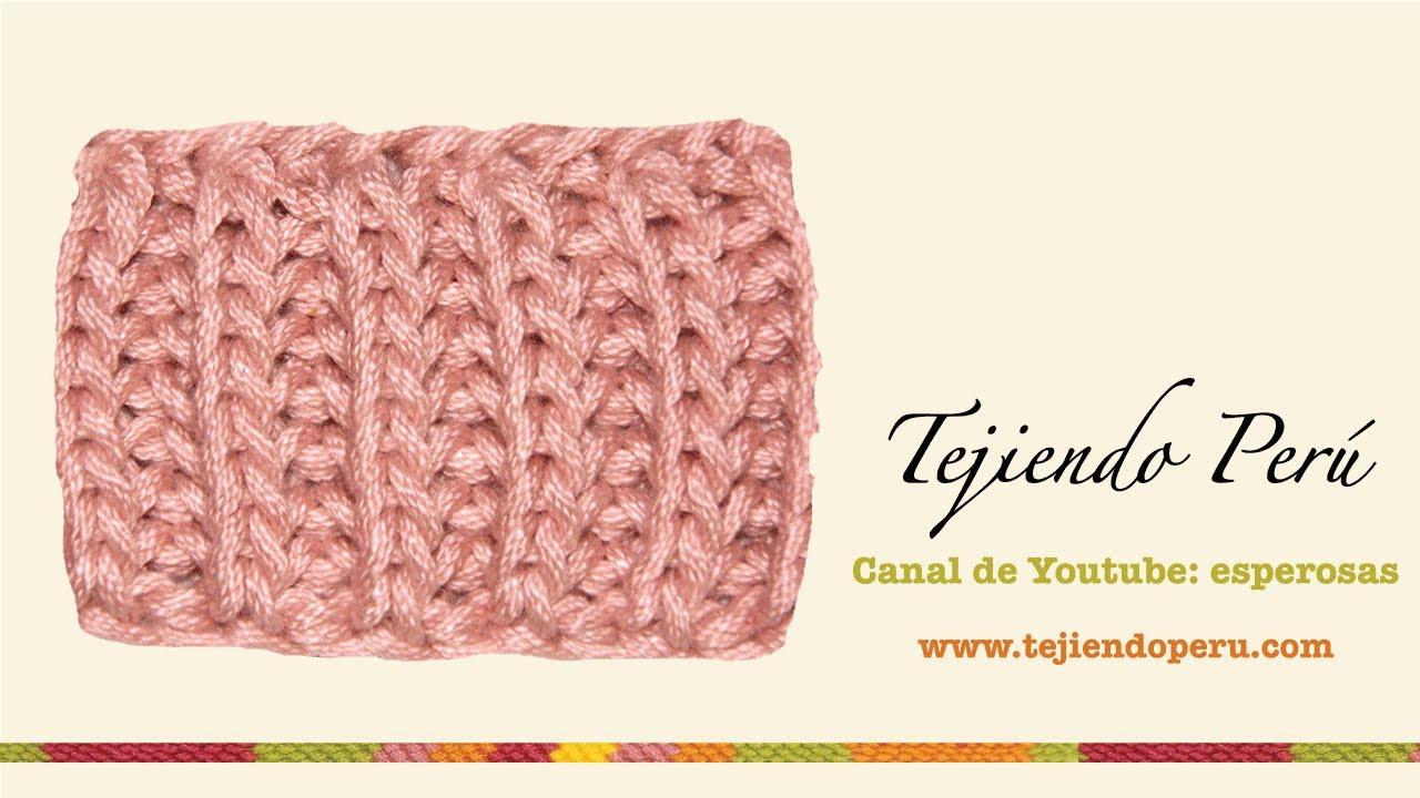 Dos agujas punto ingl s youtube - Puntos de lana a dos agujas ...