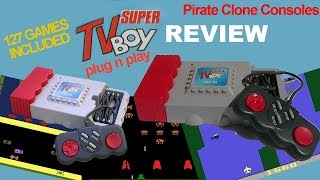 Super TV Boy Review - Plug n Play - 90s Atari Flashback Pirate Bootleg Clone Console / TV Boy II