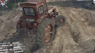 (Spintires) первый день в игре на тракторе т40 !!!