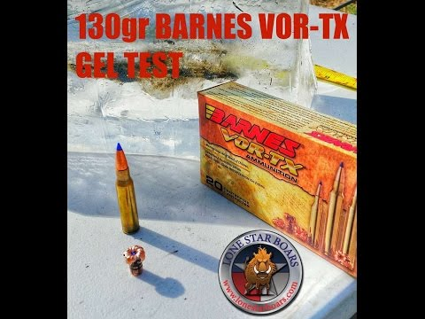Barnes 308 win 130gr VorTx Ballistic gel test.