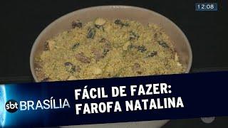 Fácil de Fazer: farofa natalina   SBT Brasília 12/12/2019