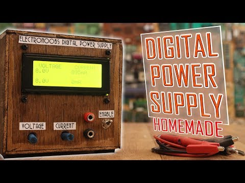 Homemade digital power supply with Arduino