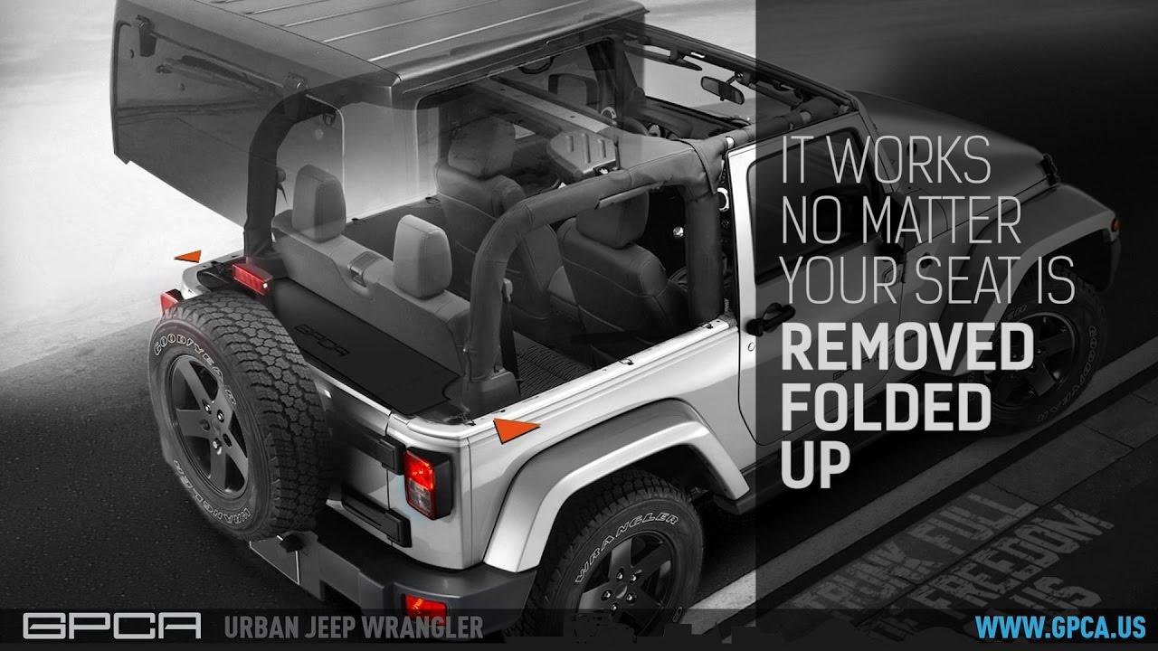 Gpca Jeep Wrangler Jk 2dr Cargo Cover Youtube