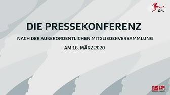 Wie geht es weiter mit der Bundesliga? - Die DFL-Pressekonferenz | ZDFsport