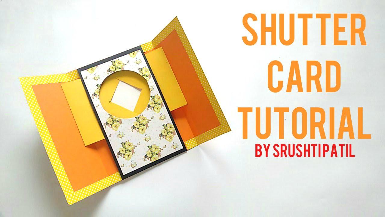 shutter card tutorial by srushti patil youtube