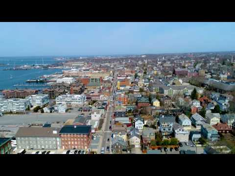 Take a drone flight down Thames Street  | Newport, Rhode Island