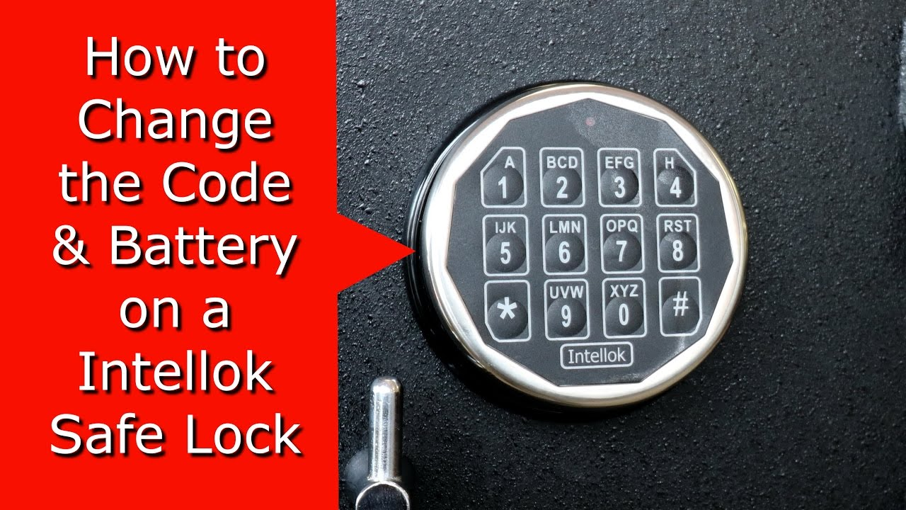 How To Change Intellok Safe Locks Code Battery Youtube