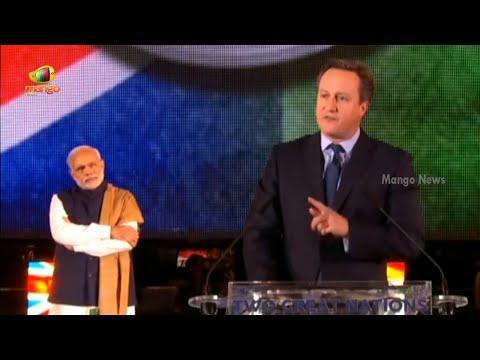 David Cameron Speech At Wembley Staidum | Modi At Wembley | Mango News