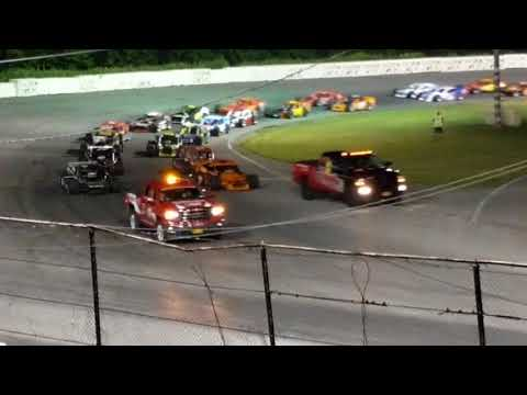 ROC Modifieds Lancaster Speedway Ol' boy cup parade laps and start 2018