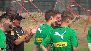 Begrüßung neuer Spieler mit Alassane Pléa - Borussia Mönchengladbach/Gladbach | Training 17.07.2018