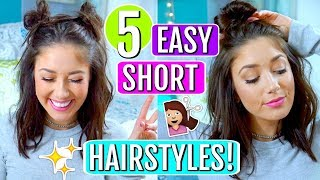 5 EASY Hairstyles for SHORT Hair 2018! | Trending With Tori