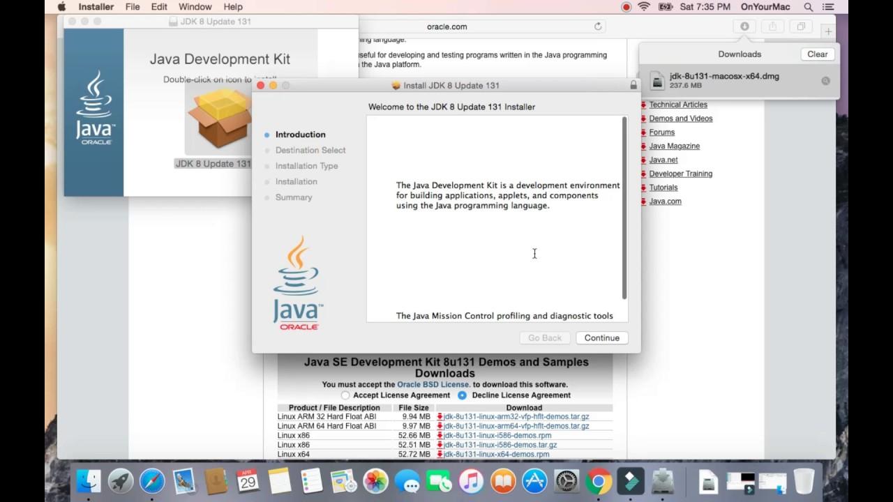 install jdk 8 mac os x
