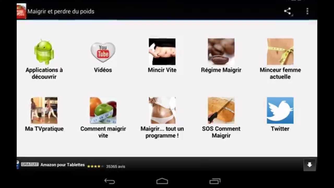 maigrir et perdre du poids application android youtube. Black Bedroom Furniture Sets. Home Design Ideas
