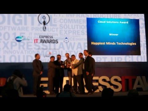 Bloomberg TV Express IT Awards : Happiest Minds IoT platform MIDAS wins Gold.