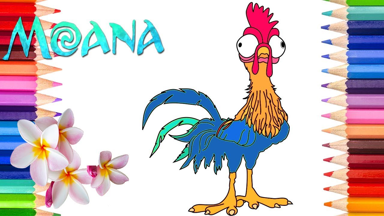 moana hei hei coloring page moana coloring book for kids rainbow playhouse coloring pages