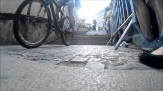 Pražské schody 2015 - první dva průjezdy na schodech