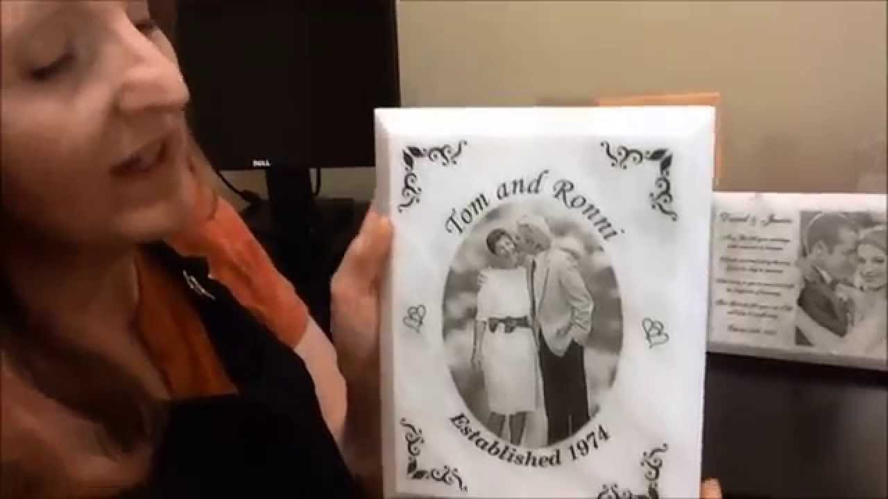 Laser Engraved White Marble Photo Plaque - Laser Perfect Gifts