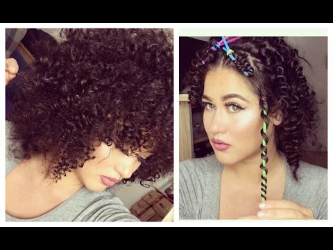 diy heatless curls with straws i afro locken mit. Black Bedroom Furniture Sets. Home Design Ideas
