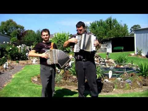 In The Garden - Garden Footage! (Piano Accordion & Button Accordion Duet)