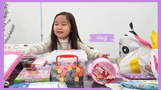 vlog | 친구들이 준 생일선물 언박싱 브이로그 ( …
